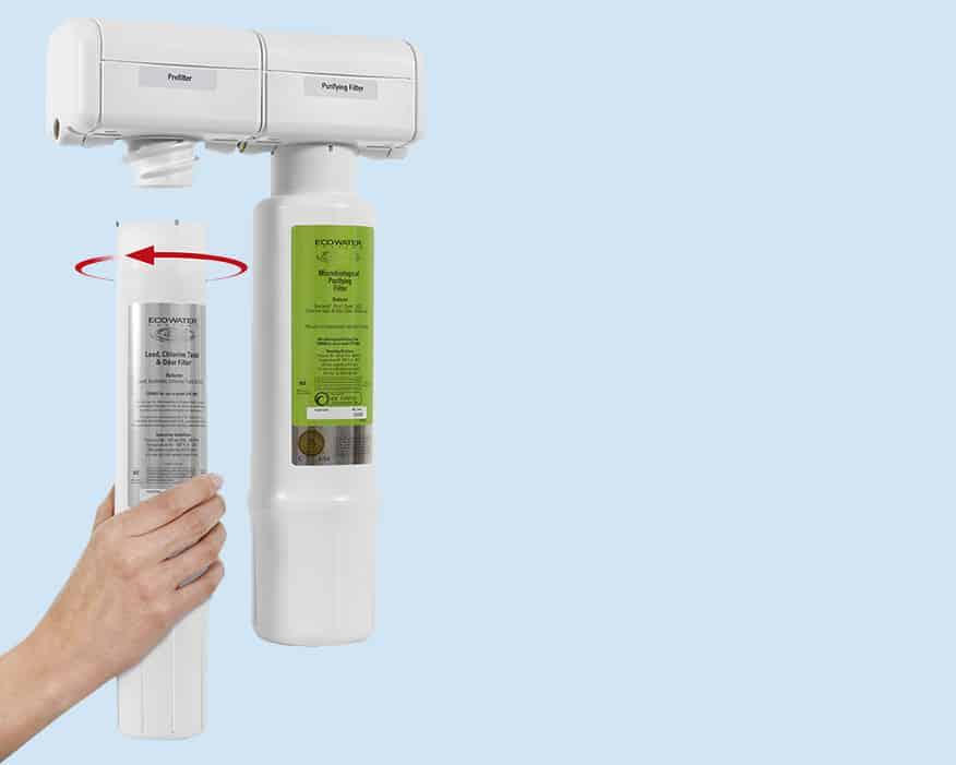 Filtro acqua EPS 1000 - cambio cartucce